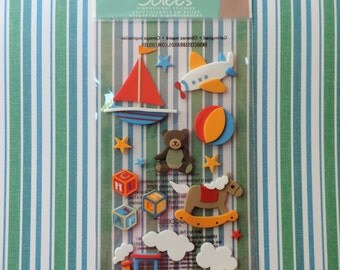 Boy's Toys scrapbook stickers by Jolee's Boutique