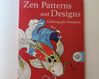 Adult coloring book - Zen Patterns and Designs