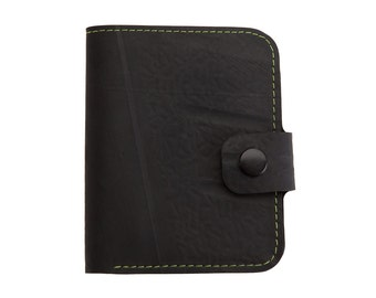 Inner Tube Vegan Wallet with coin compartment and with button closure
