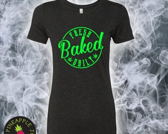 Fresh Baked Daily Women's Triblend Crew - Stoner Tee