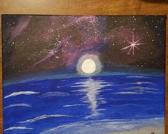 """Acrylic painting - """"A Night Without The Atmosphere"""""""