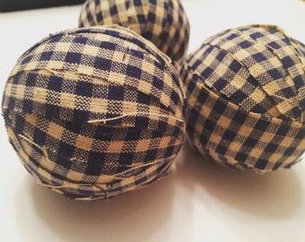 Navy Blue and Cream Fabric Balls