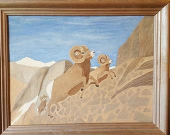 Epic Bighorn Sheep Painting