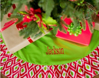 Christmas Tree Skirt, Personalized Christmas Tree Skirt, FREE Personalization, Monogrammed Tree Skirt, Embroidered Tree Skirt