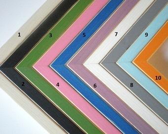 """Colorful frame 13x19"""" photo frame poster frame delicate rustic frame 33x48cm frame nursery frame crafts woodworking chicframeshop"""