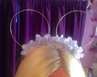 Mikey mouse ears floral