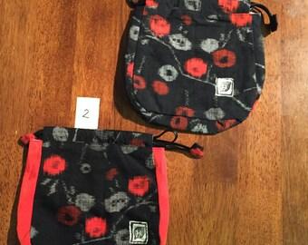 Japanese kimono fabric small bag