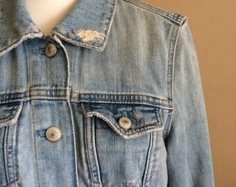 Distressed Gap denim jacket