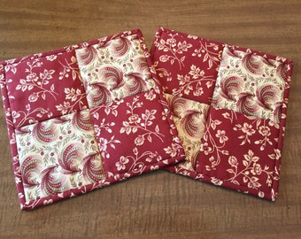 quilted potholders, hot pads, trivets