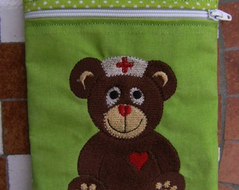 Medicine, emergency bag, stitched/embroidered, cotton, DYS