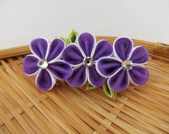 Hair Accessories-Hair Clips-Barrettes and Clips- Hair Pins-Kanzashi Flower-Tsumami Kanzashi-Girls Hair Accessories-Wedding Accessories