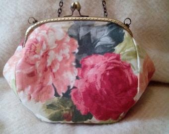 Tapestry clutch, handmade