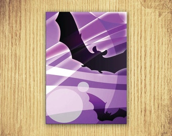Bats ~ Halloween Card ~ 5 x 7 ~ Digital Download Only