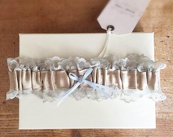 Elodie Silk + Lace Bridal Garter - Wedding Accessories - Bridal Lingerie