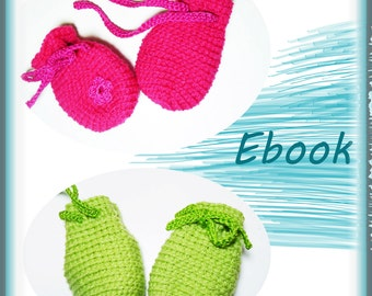 Crochet gloves, eBook crochet pattern baby gloves, mittens, crochet pattern