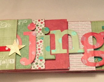 Christmas Jingle Chipboard Word Book