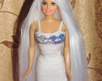 Crochet Barbie Clothes. Barbie Doll outfit (1/6 Scale)