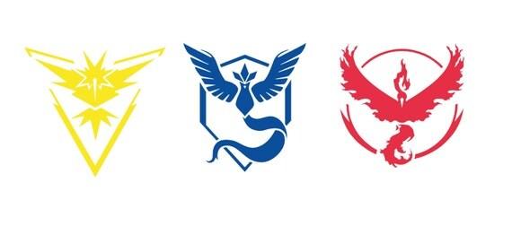 """Pokemon Go Team Decals Team Mystic Team Valor Team Instinct 2""""-8"""""""
