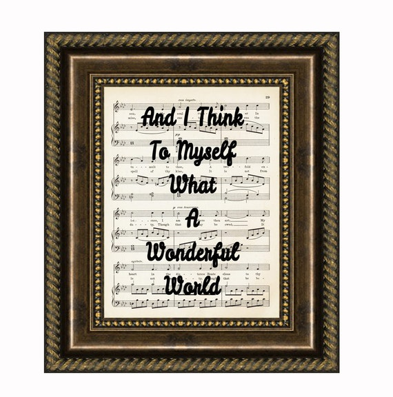 And I Think To Myself What A Wonderful World, Louis Armstrong, Song Lyric Art