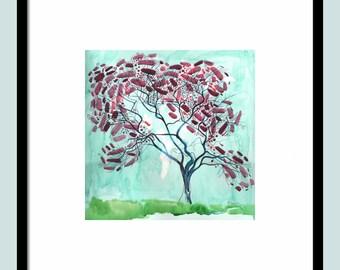ORIGINAL LANDSCAPE WATERCOLOR 16X16 watercolor fine art, landscape painting, original technique, large wall art, landscape watercolor