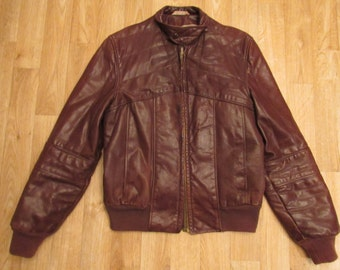 Vintage Hard On Leather Jacket San Francisco  Racer sz 38 1970's