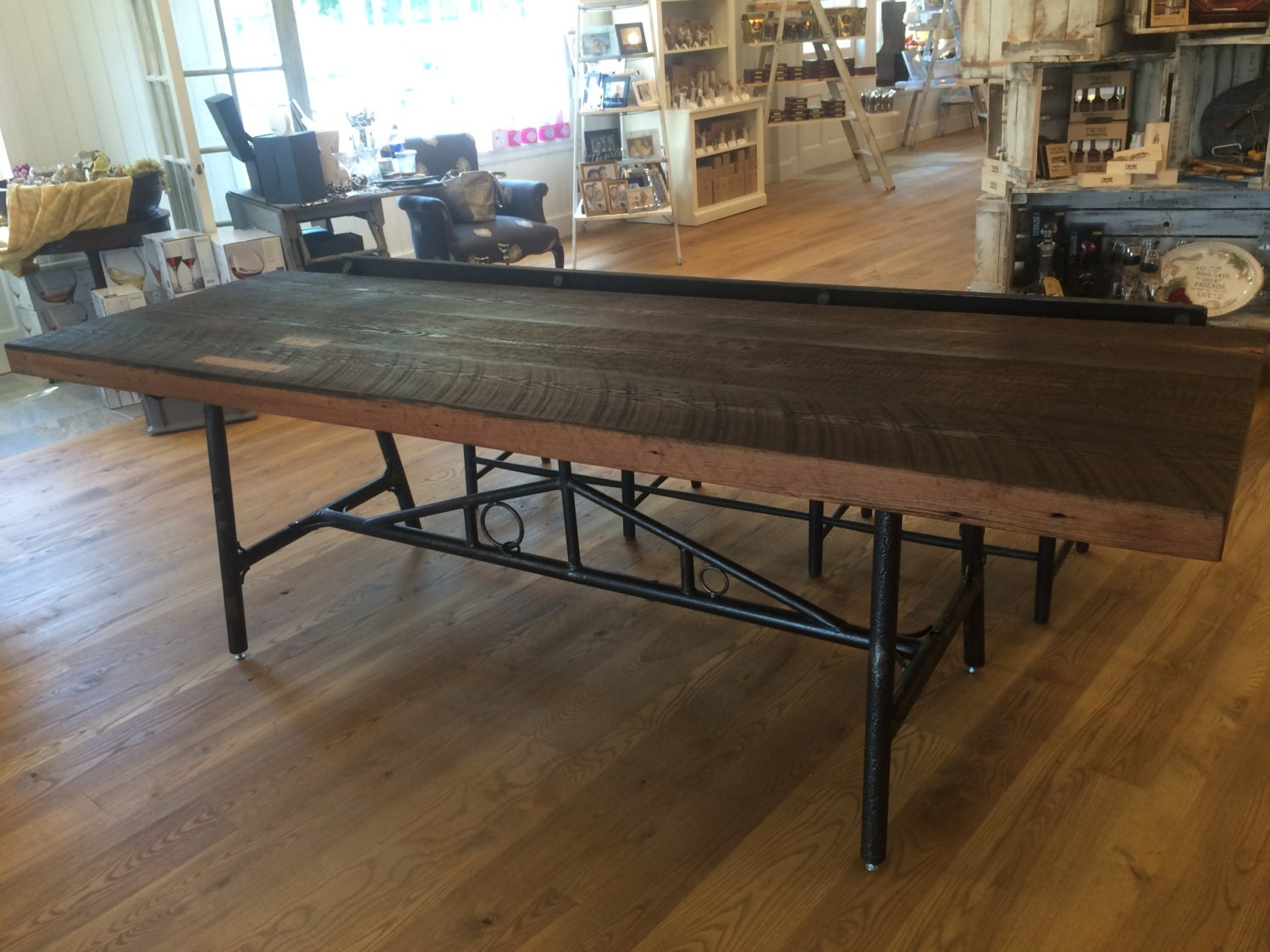 harvest table dining table reclaimed
