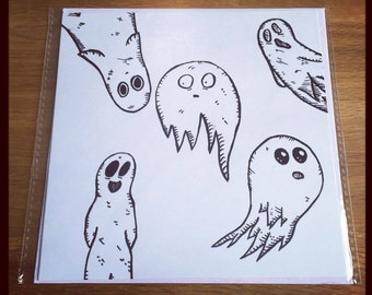 Ghost Halloween Greeting Card