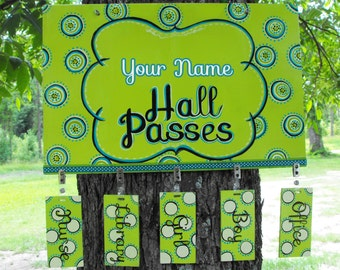 Student Hall Passes for Classroom Teachers - Reusable matching passes -Hall Pass