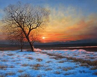 Cavan Snow, Ireland (Oil on Canvas 400x300mm)