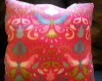 Pink Butterfly Pillow