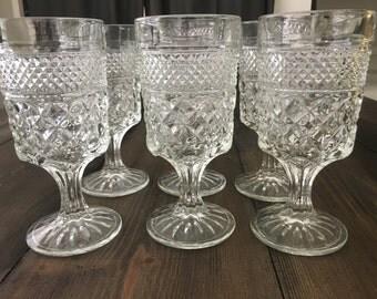 Vintage Crystal Glassware set of 6