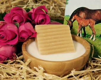 Natural horse milk with champagne and roses
