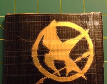 Bi-Fold Duct Tape Wallet w/ Hunger Games Logo