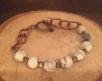 Howlite Bracelet, Bracelet, Gemstone Bracelet