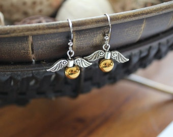 Harry Potter's snitch earrings