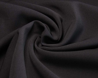 Wool blended wool worsted  fabric color black.