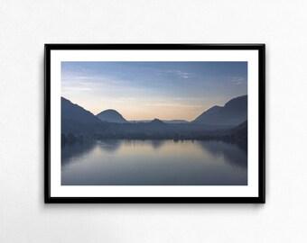 Sunset on the Lake / Lugano / Switzerland / Mountains