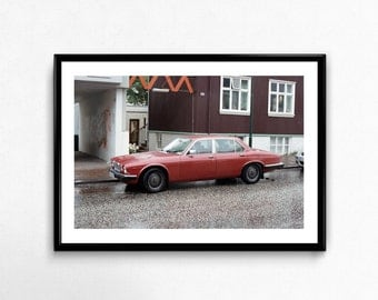Old car in Reykjavik / Iceland / Analogue Photography / Travel / Arctic / Decoration