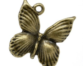 "5 followers ""Butterfly"" - 18 * 17 mm - bronze / D1-0085"