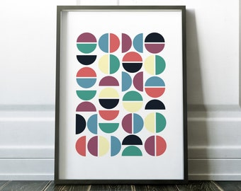 Wall Art Print, Minimalist Print, Circles Print, Wall Art, Abstract Print, Abstract Art, Wall Decor, Minimalist Poster, Scandinavian Print