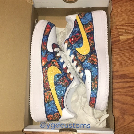 c48d67c8706 Picasso Icey Custom Nike Air Force Ones by ygdcustoms on Etsy durable  service