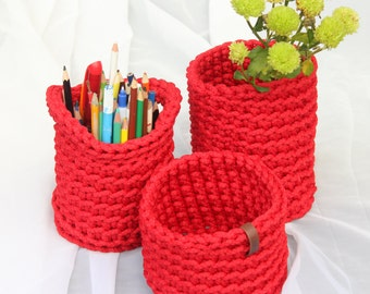nice small storage baskets, holders(3pcs.)