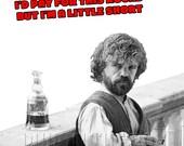 Game of Thrones card, Game of Thrones birthday card, Tyrion Lannister birthday card, Card for Game of Thrones fan, Peter Dinklage card