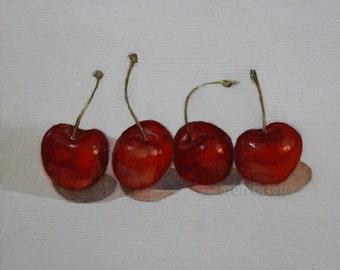Cherries, Original Oil Painting