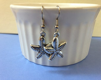 Starfish Earrings-tibetan silver