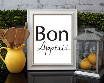 Bon Appetit Kitchen Decor Fine Art Print - DIGITAL COPY