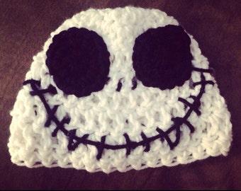 Crochet Jack Skellington hat