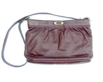 Vintage 70s Etienne Aigner Handbag, Vintage Aigner, Aigner Burgundy Leather Purse, Purse, Authentic Vintage Handbag, Italian Leather