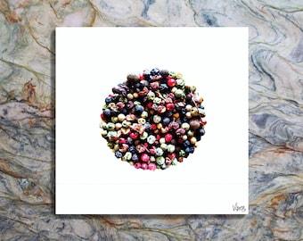 Pepper'World 70x70 stampe cucina quadri moderni food design arredamento interni articoli casa decorazioni da parete idee regalo VibienDesign