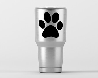 Dog Paw Print / Yeti Decal / Vinyl Decal / Yeti Tumbler Decal / Yeti Cup Decal / RTIC / ***Tumbler Available***